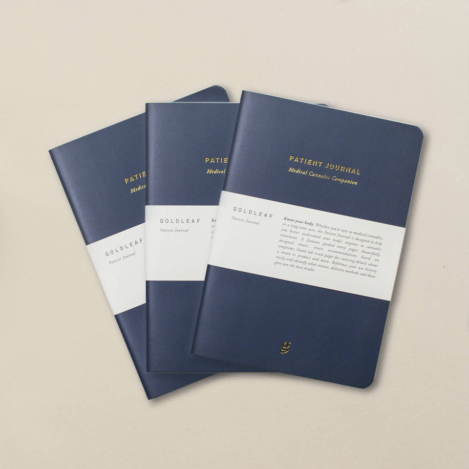 Goldleaf Patient Journal: Medical Cannabis Companion - 3 Pack Bundle