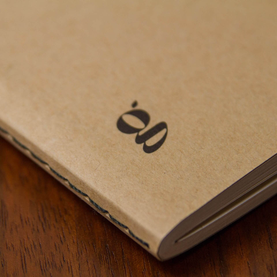 The Blank Journal - Lined Pages - A5 Size - Sustainably Made, Environmentally Friendly - Goldleaf