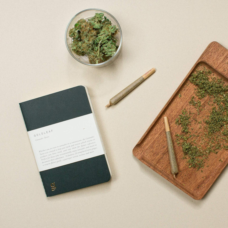 The Cannabis Taster Journal - A Recreational Tasting and Experience Logbook for Marijuana Products - Goldleaf