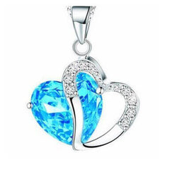 Azure Sea Heart White Background - Locket and Thieves