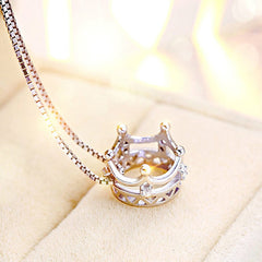 Crown Royale Sterling Silver Necklace 925 Jewelry queen