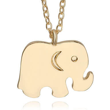 Elephant necklace gold good luck