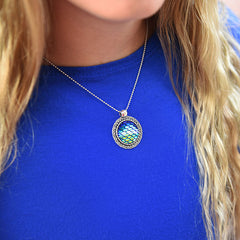 mermaid-pendant-fish scales-necklace bohemian