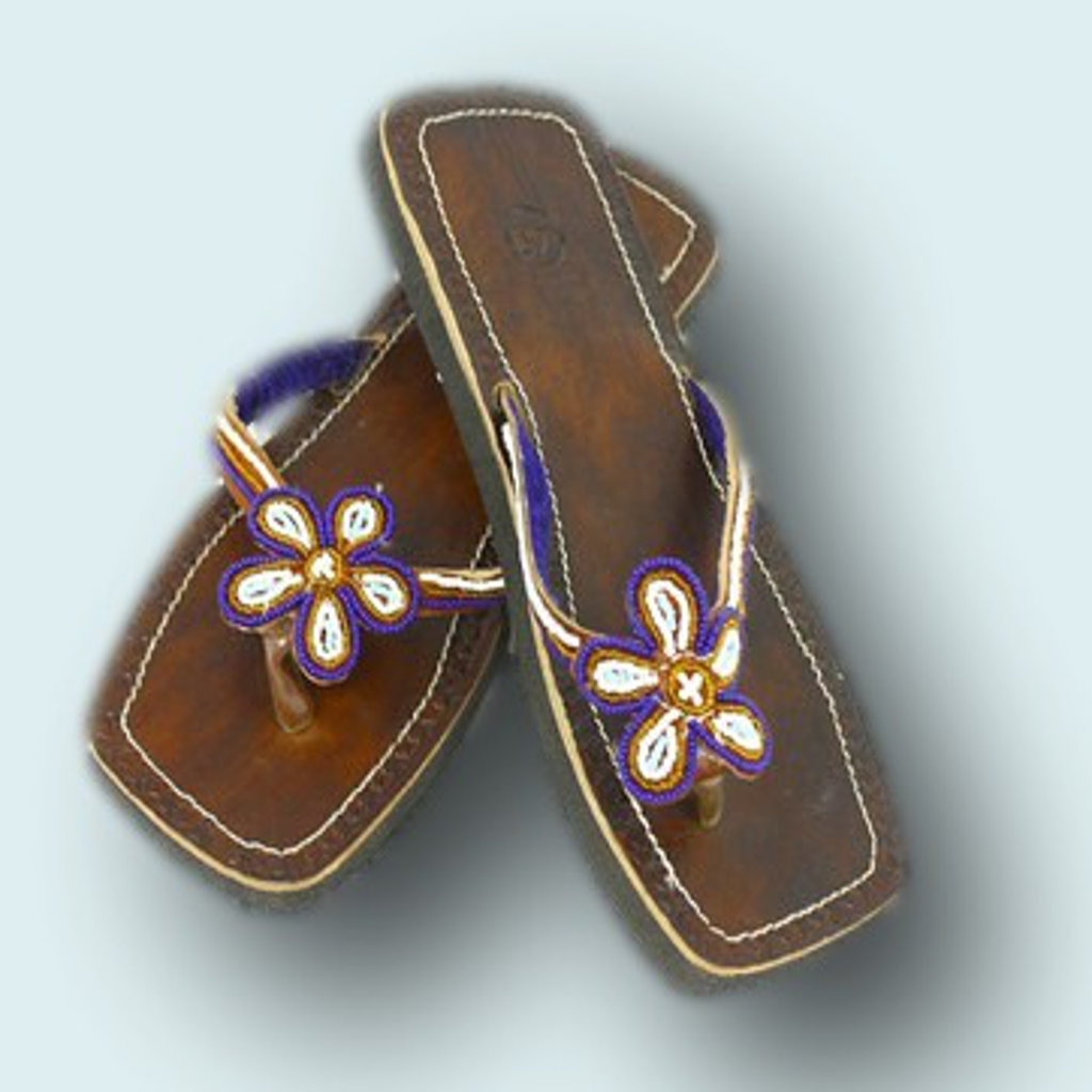 Leather Sandals | Hand Beaded