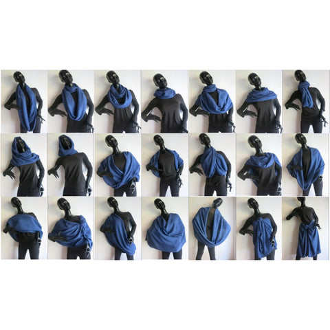The Tsandza Collection Giant Infinity Striped Scarf Khuhle