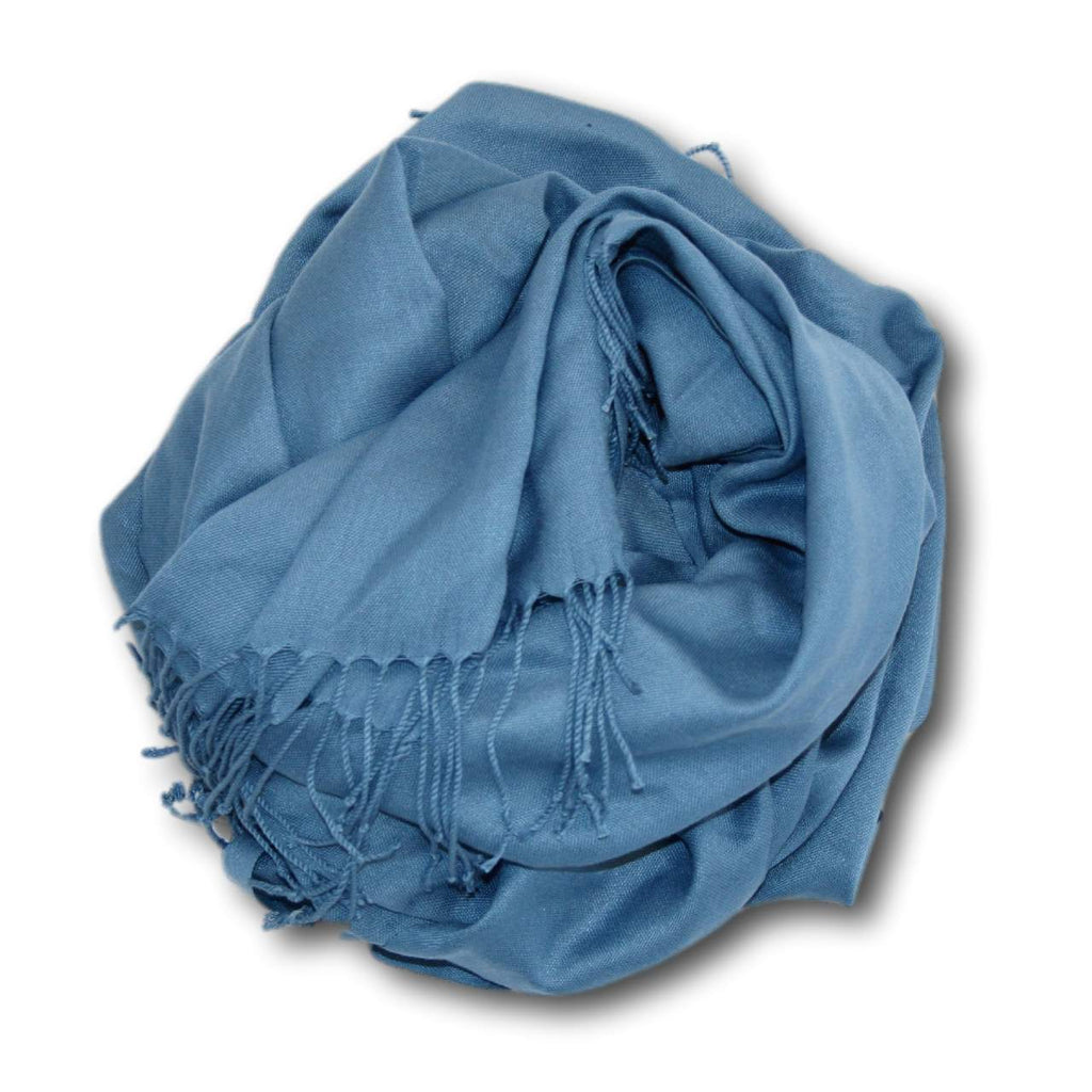 Beach Cottage Blue | Pashmina-Style Shawl-Clothing & Accessories-Zawadee.com USA