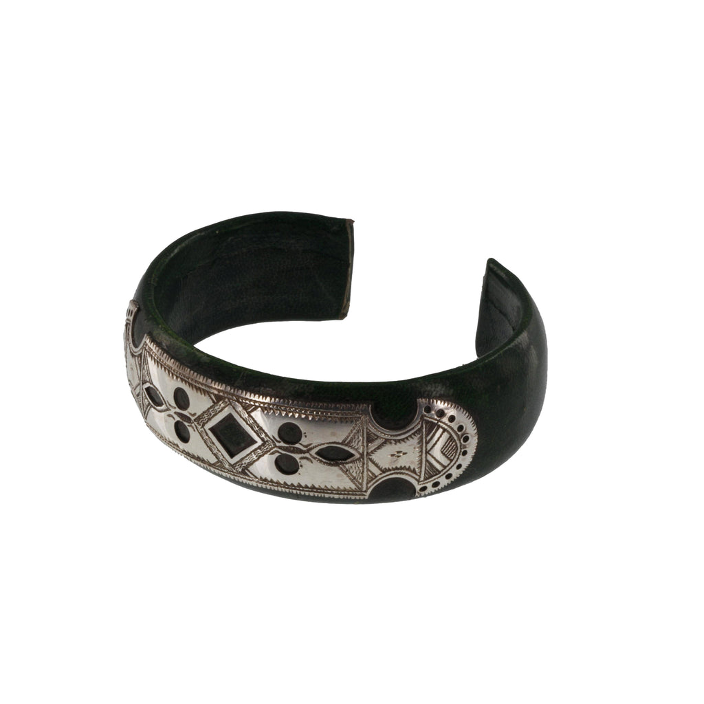 ITRI Silver & Wood Etched Cuff Bracelets - The Azel Collection