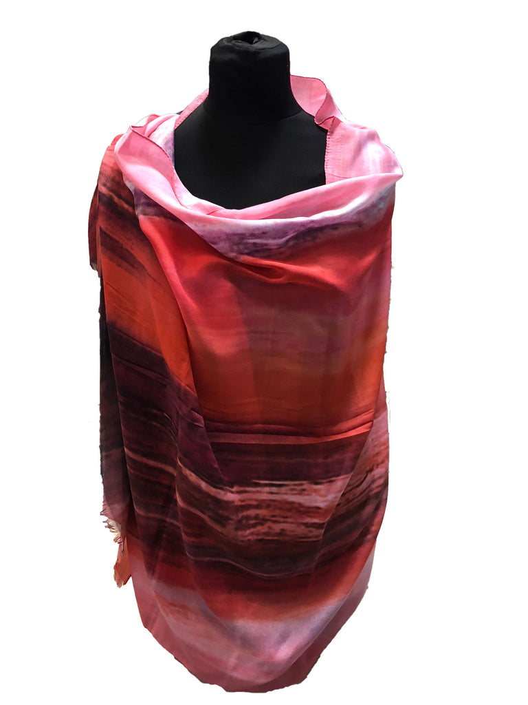 Pashmina-Style Printed Cotton Shawl | Various Colors