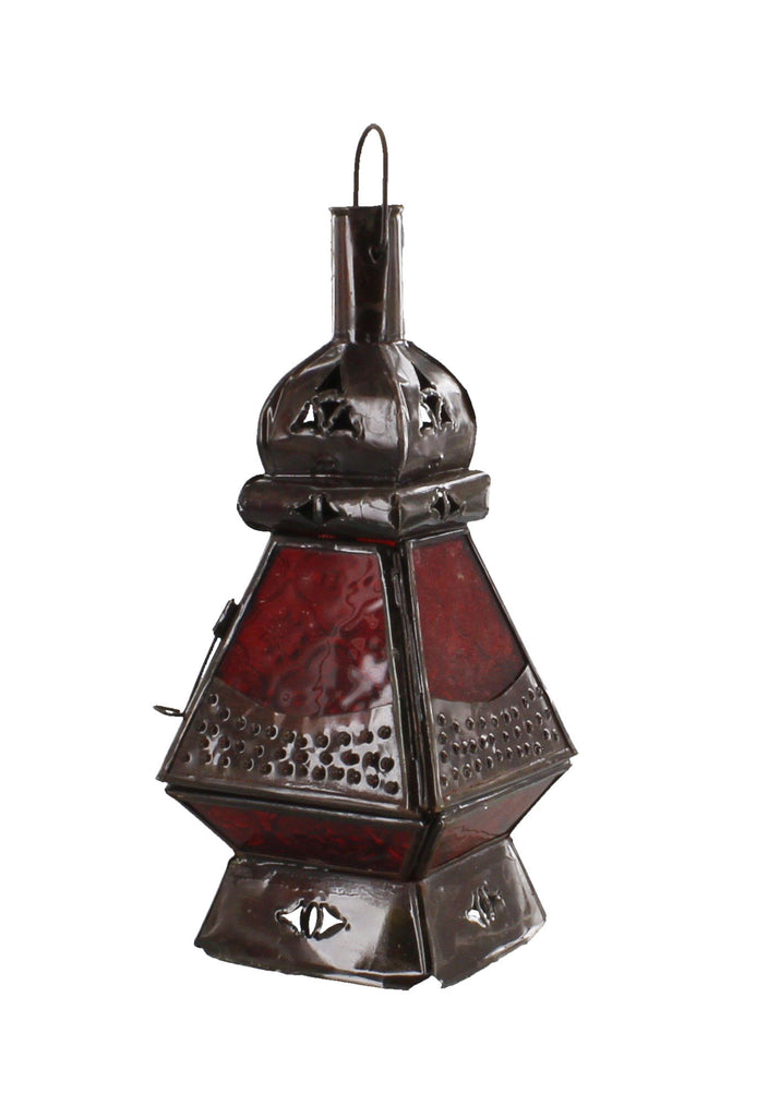 Moroccan Lamp Square Base Pyramid Multi-Colour