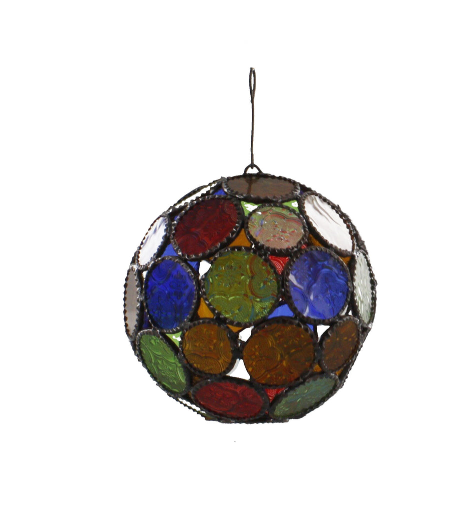 Moroccan Lamp Multi Coloured Round Design