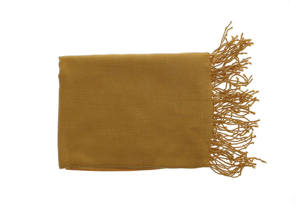Pashmina-Style Womens Shawl 26 inches wide by 72 inches long Grassy Savanna