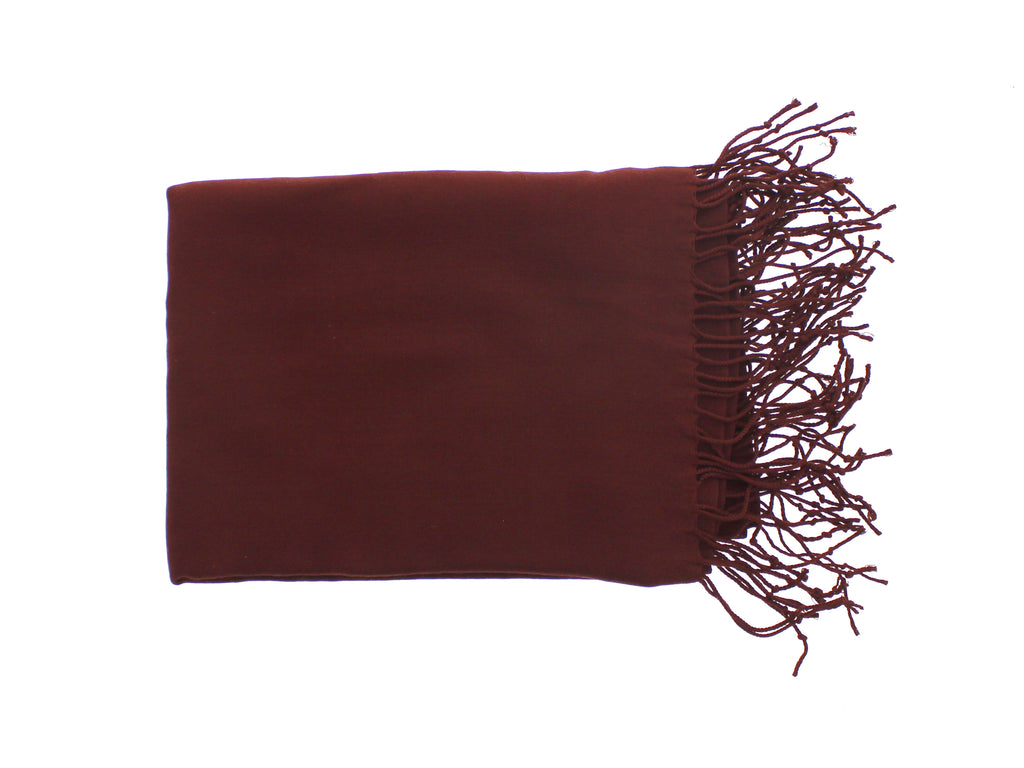 Pashmina-Style Womens Shawl 26 inches wide by 72 inches long French Burgundy