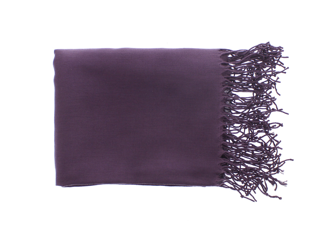 Pashmina-Style Womens Shawl 26 in wide by 72 in long Passionate About Purple