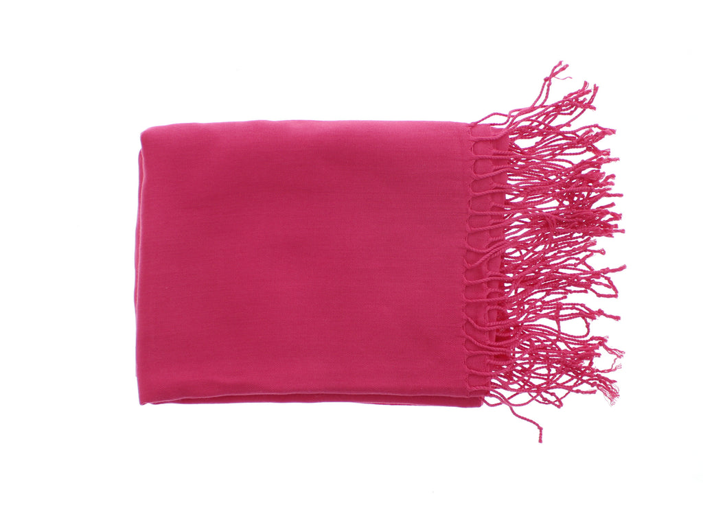 Pashmina-Style Womens Shawl 26 in wide by 72 in long Smashin Passion Pink
