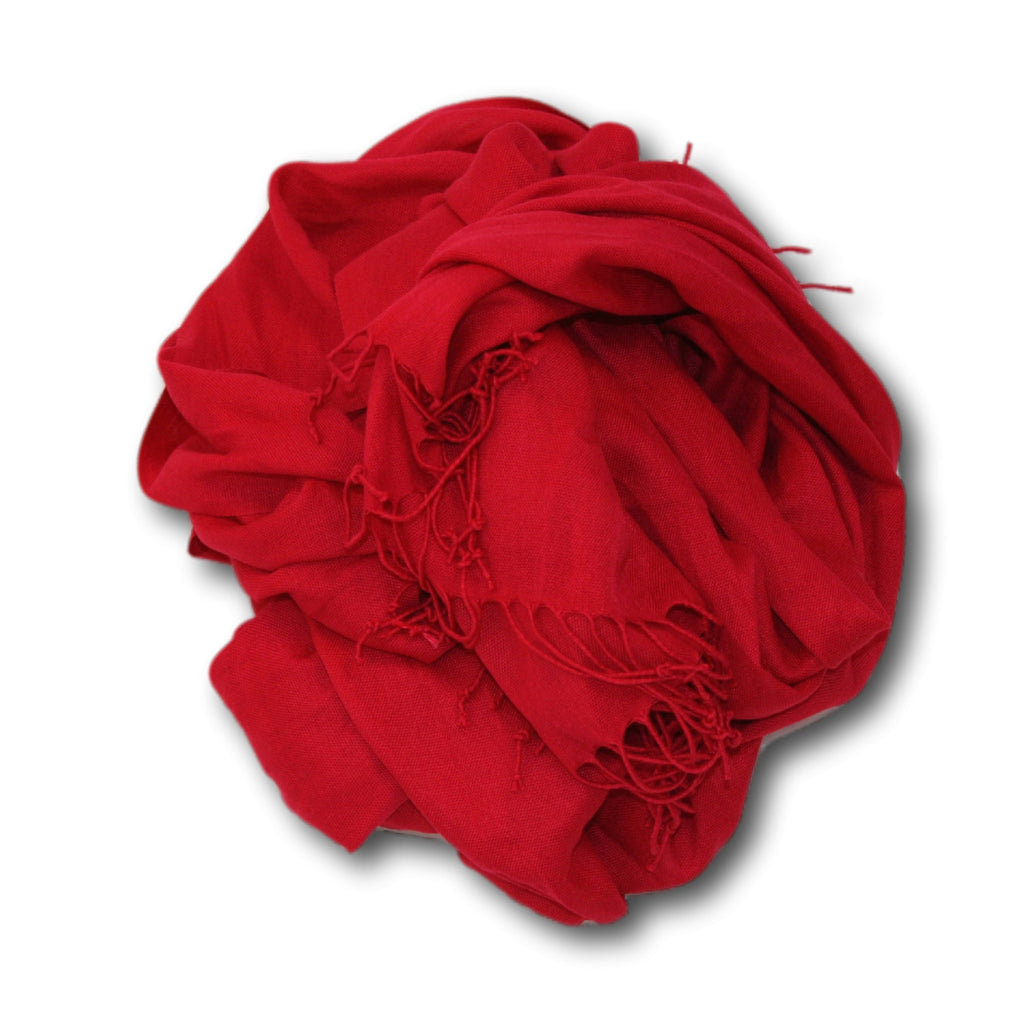 Pashmina-Style Womens Shawl 26 inches wide by 72 inches long Red Red Rose