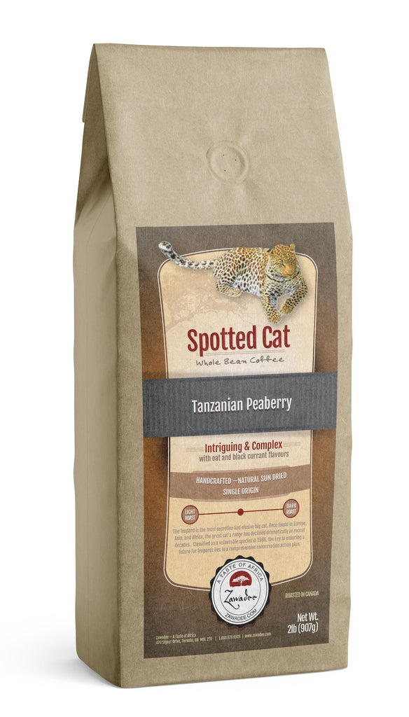 Whole Bean Coffee Spotted Cat Tanzanian Peaberry