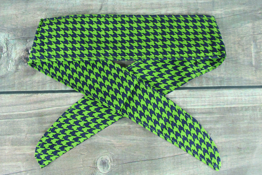 Green/Navy Houndstooth