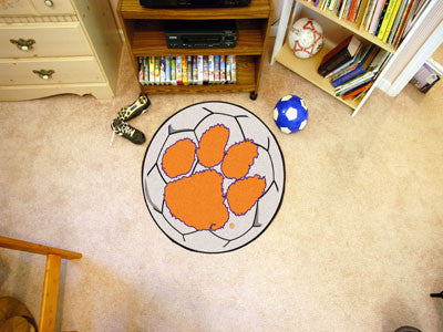 Clemson University Soccer Ball Rug