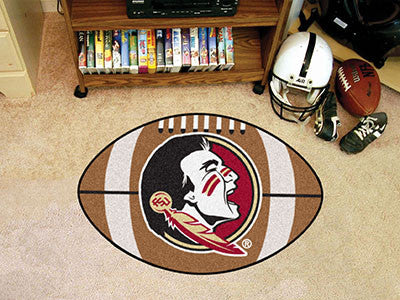 Florida State University Seminole Logo Football Rug