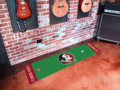 Florida State University Seminole Logo Golf Putting Green Mat