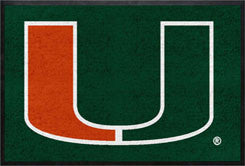 University of Miami 4' x 6' Logo Mat