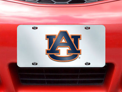 Auburn University License Plate Inlaid Rug