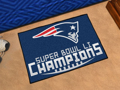 New England Patriots Super Bowl LI Champions Custom Starter Mat