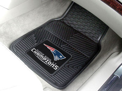 New England Patriots Super Bowl LI Champions Heavy Duty 2-Piece Vinyl Car Mats