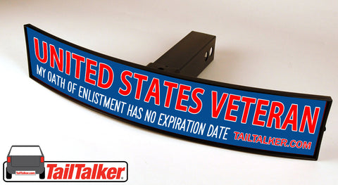 United States Veteran Trailer Hitch Cover