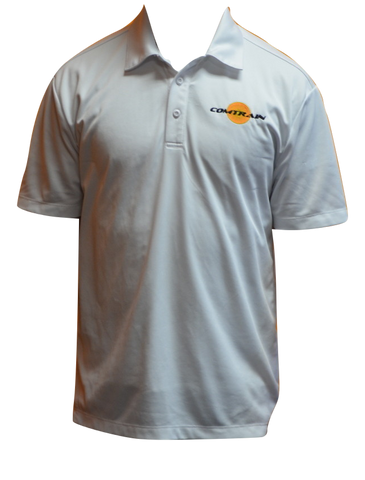 Performance Dry Fit Shirt w/Embroidered Comtrain logo - White