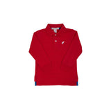 THE BEAUFORT BONNET COMPANY PRIM AND PROPER LONG SLEEVE POLO - RICHMOND RED