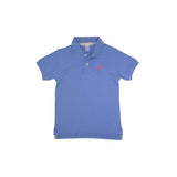 THE BEAUFORT BONNET COMPANY PRIM AND PROPER POLO - BARBADOS BLUE ROYAL PALM RASPBERRY