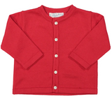 Classic Knit Cardigan Red