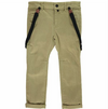 Olive Woven Trousers with Removable Braces