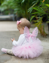 Baby Tutu and Wing Set Light Pink
