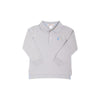 THE BEAUFORT BONNET COMPANY PRIM AND PROPER LONG SLEEVE POLO - GRANTLEY GRAY