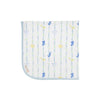 THE BEAUFORT BONNET COMPANY BABY BUGGY BLANKET - ROCKABYE RIBBONS WITH BUCKHEAD BLUE