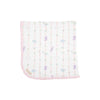 THE BEAUFORT BONNET COMPANY BABY BUGGY BLANKET - ROCKABYE RIBBONS WITH PALM BEACH PINK