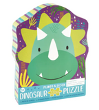 FLOSS AND ROCK DINO SHAPE JIGSAW PUZZLE