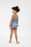 FLORENCE EISEMAN GIRLS CHERRY PRINT SWIMSUIT