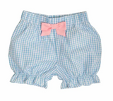 THE BEAUFORT BONNET COMPANY NATALIE KNICKERS - BROOKLINE BLUE WINDOWPANE WITH SANDPEARL PINK