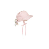 THE BEAUFORT BONNET COMPANY PIPPA PETAL HAT PALM BEACH PINK WITH RAINBOW ROW STRIPE