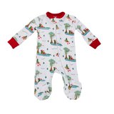 LA LUNA SANTA ON THE BAYOU FOOTIE ZIPPER PAJAMA