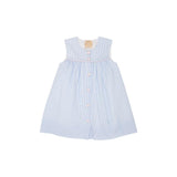 THE BEAUFORT BONNET COMPANY SLEEVELESS TABITHAS TEACHERS PET DRESS BREAKERS BLUE SEERSUCKER