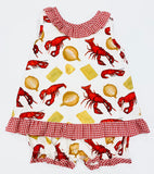 ABBY CRAWFISH BLOOMER SET