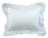 Pillow Cover with Lace Trim White