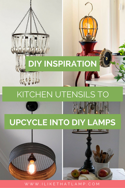 10+ Kitchen Utensils to Upcycle into a DIY Lamp