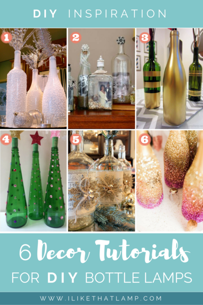 6 Easy Ways to Customize Bottles for Winter Themed DIY Lamps