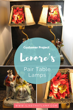 Customer Feature: Lenore's DIY Panel Lampshades Makeover - Read more at www.ilikethatlamp.com