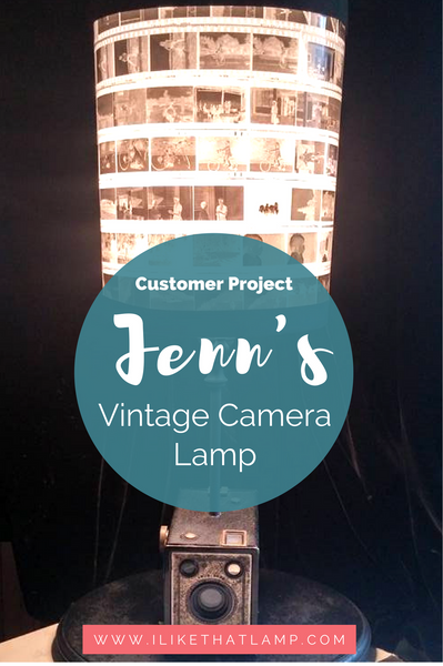 Customer Project: Jenn's DIY Vintage Camera Lamp
